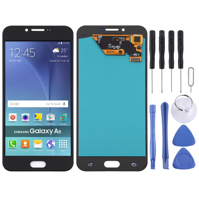 OLED Material <font><b>LCD</b></font> Screen and Digitizer Full Assembly for <font><b>Samsung</b></font> Galaxy A8 (2016) / SM-<font><b>A810</b></font> image