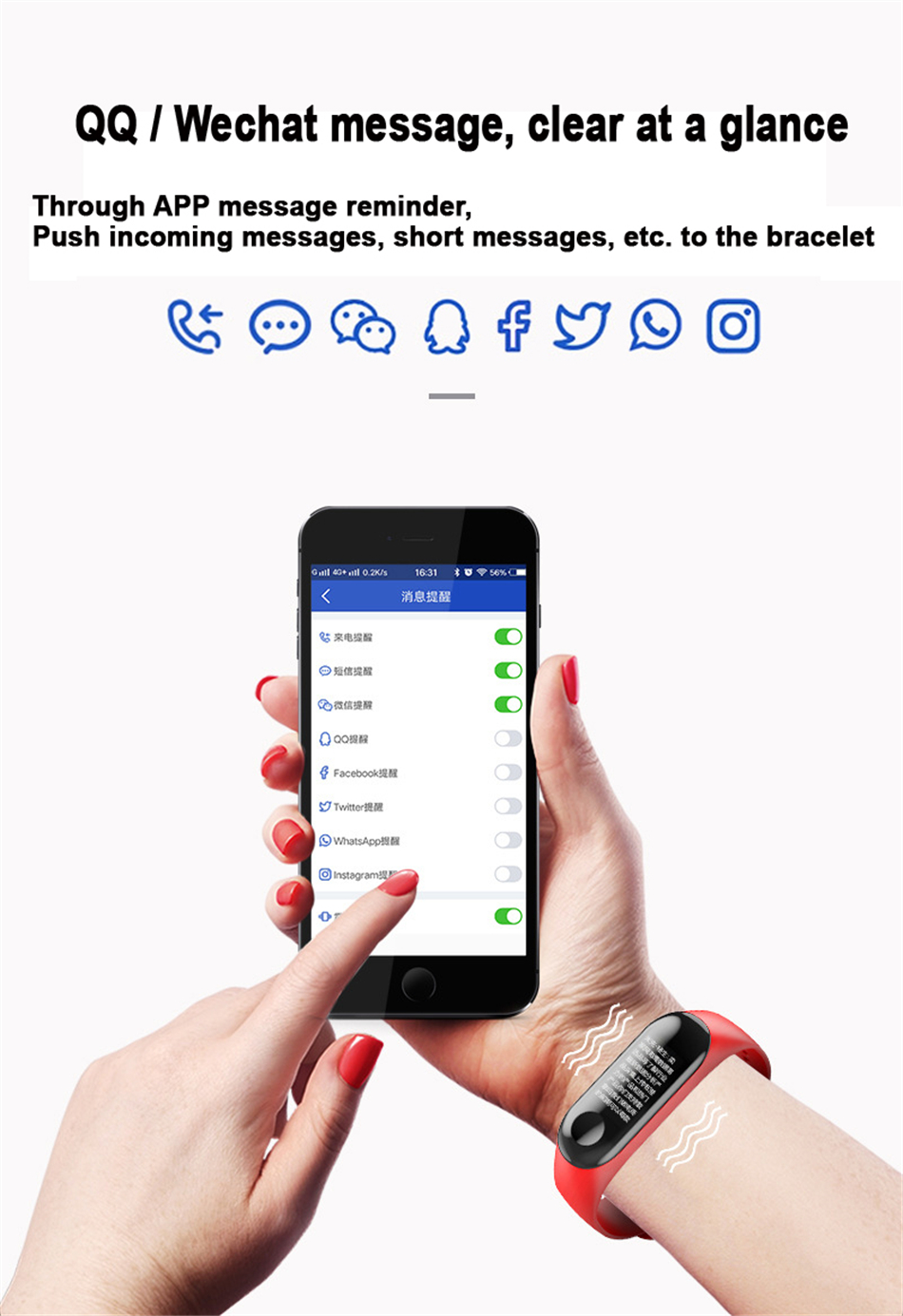 H496a890033a24534b45e14b2d6980835m M3 Smart Band Fitness Tracker Smart Bracelet Heart Rate Monitor Watches Waterproof Sport Wristband For Men Women Smartband