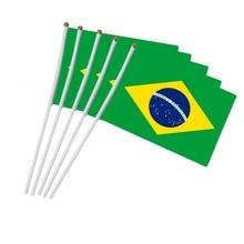 Мини-флаг, флаг Бразилии, флаг Бразилии, Круглый флаг, национальные флаги стран, вечерние украшения, принадлежности для парадов, Кубок мира