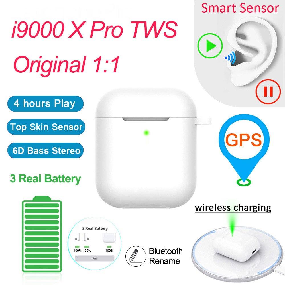 Original I9000 TWS Pro 1:1 Wireless Aire 2 Bluetooth Smart Sensor Earphones Bass Pop Up PK H1 W1chip I120 I100 I500 I2000 TWS