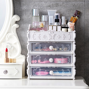 Transparent Makeup Organizer Cosmetic Storage Box Drawer Desktop Organizer Jewelry Storage Bins Lipstick Beauty Box Dropshipping