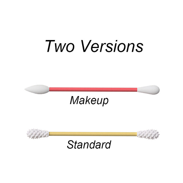 2Pcs Reusable Cotton Swab Ear Cleansing Cosmetic Silicone Buds Swabs Sticks For Cleaning Makeup Touch-Ups Double-headed 2