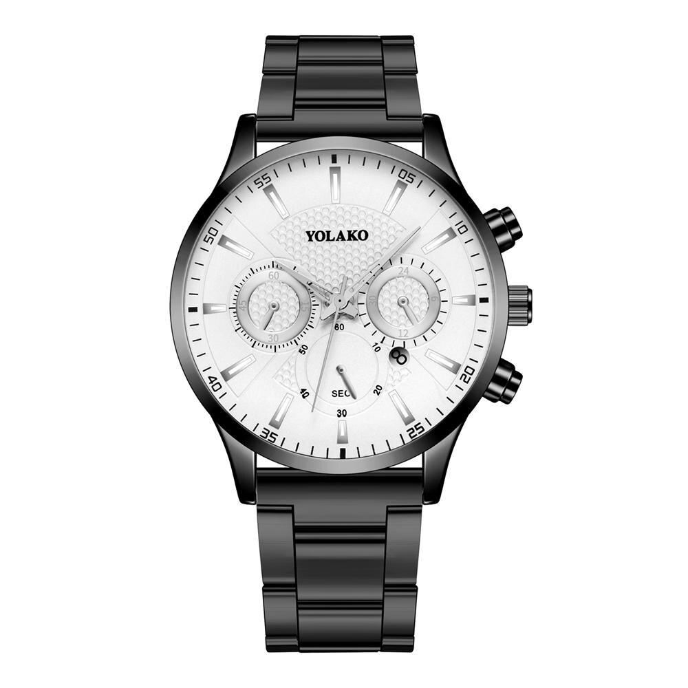 Купить мужские часы роскошные бизнес из нержавеющей стали кварцевые