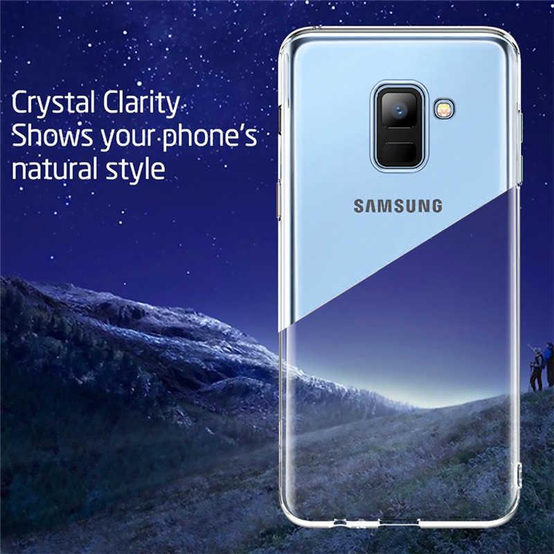 Dành Cho Samsung Galaxy Samsung Galaxy A3 A5 A7 2017 Ốp Lưng Siêu Mỏng Trong Suốt TPU Mềm Dẻo Silicone Dành Cho J4 J5 A6 2018 A30 A50 Ốp Lưng Điện Thoại
