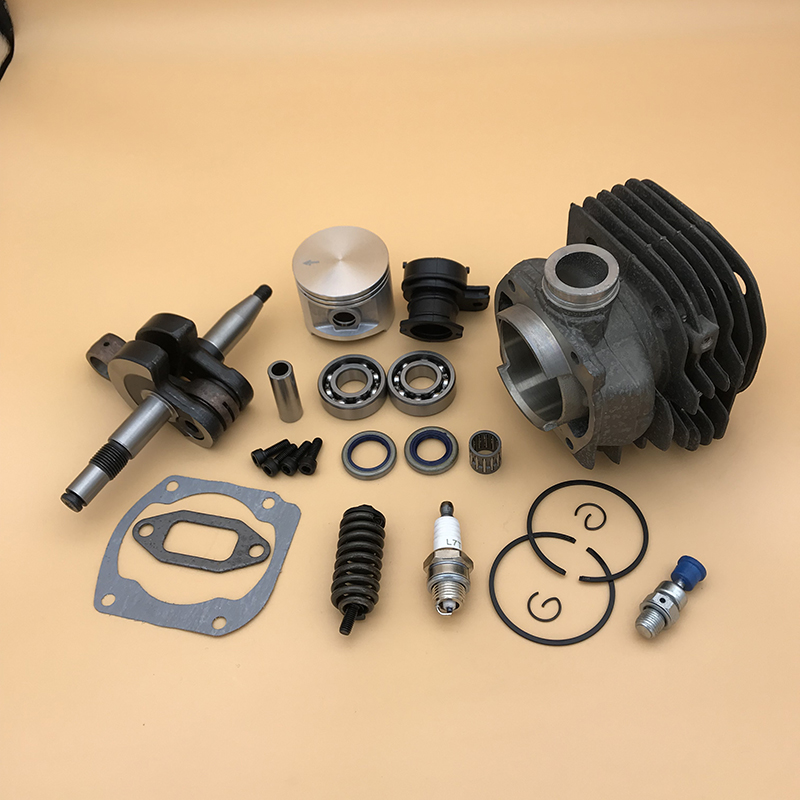 Tools : 50MM Cylinder Head Piston Crankshaft Bearing Seal Motor Kit Fit Husqvarna 372XP 372 371 365 362 Chainsaw Overhaul Engine Parts