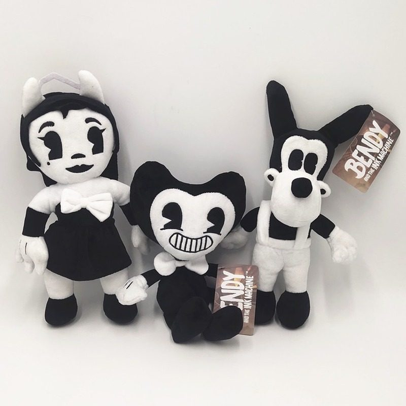 25CM-30CM Bendy Cartoon Plush Thriller Game Plush Toys Anime Figure Soft Stuffed Toy For Children kids Halloween Gift