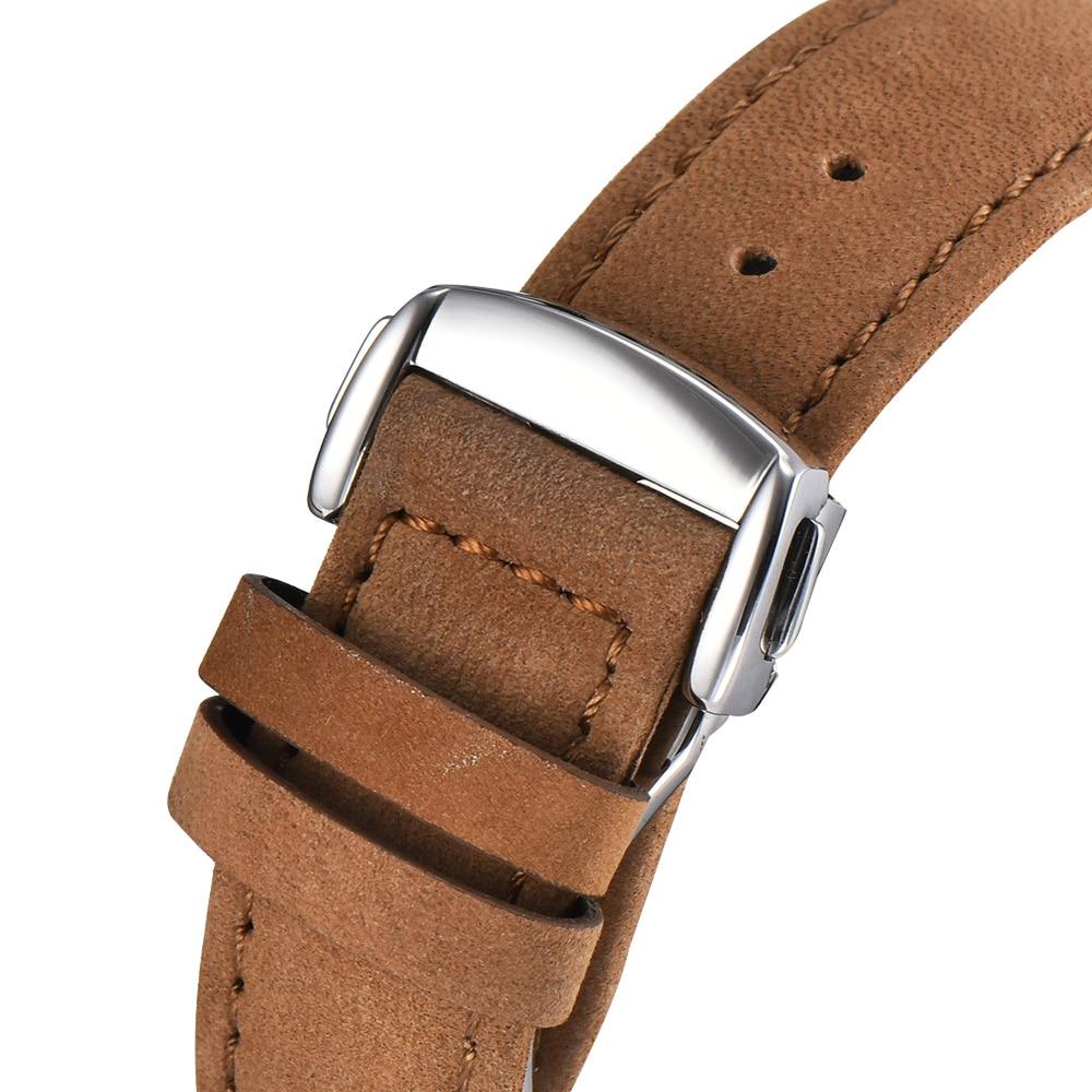 Corgeut 41mm Automatic Mechanical Mens Watch Leather Strap Luxury Brand Sapphire Luminous Waterproof Clock Casual Wristwatch Men 5
