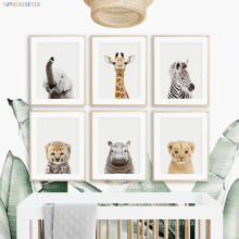 Wall-Posters Mural Deco Animal Prints Baby-Room Elephant Canvas The on