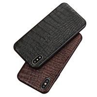 Natural crocodile skin phone case for iphone x xs xsmax 7 8 8plus 5s SE Luxury belly texture All inclusive Dustproof back cover