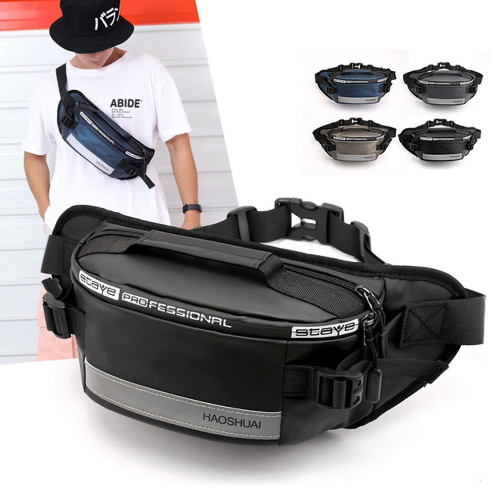 2020 Luxury Nylon Waist Belt Bag Men Water-proof Night Reflective Casual Belt Bags Crossbody Chest Bag For Men Shoulder Bags