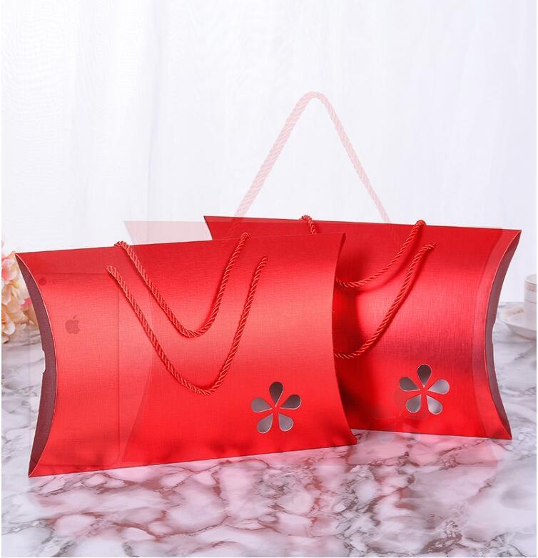 Livraison gratuite Kraft papier cadeau sac avec poignées vêtements cadeau papier boîte bricolage faveur de mariage cadeau boîte présent emballage boîte 20 pièces