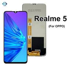 إصلاح LCD ل ممن لهم ل Realme 5 RMX1911 شاشة إل سي دي باللمس لوحة الشاشة الرقمي الاستشعار الجمعية ل عرض Realme5