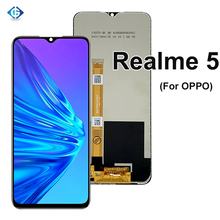 Onarım LCD OPPO Realme 5 RMX1911 dokunmatik LCD ekran paneli ekran digitizer sensörü meclisi Realme5 ekran