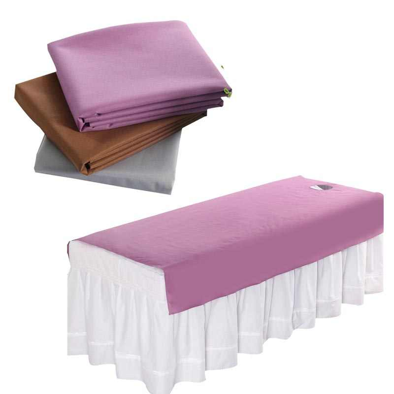 1Pcs Waterproof Oilproof Cosmetic Salon Sheets SPA Massage Treatment Bed Table Cover Sheets with Breathable Hole