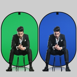 Image 3 - 150*200cm 4in1 Oval Collapsible Portable Reflector Disc Blue Green/Black White Screen Background Chromakey Panel for Photography