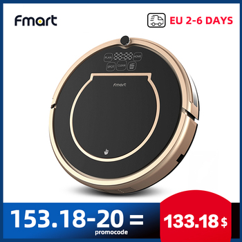 Fmart E200 Robot Vacuum Cleaner Sweep&Wet Mopping&Dry For Hard Floors&Thin carpet Run 120mins Automatically Charge No Tax 1000PA