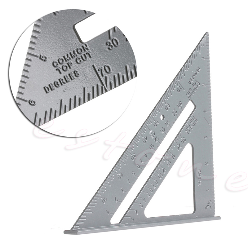 Speed Square Protractor Aluminum Alloy Miter Framing Measurement For Carpenter Stationery