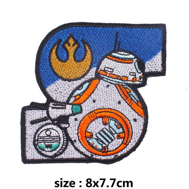 Prajna Star Wars Patch di Calore-Adesivo Ricamato Toppe E Stemmi per Abbigliamento Ferro Sul Toppe E Stemmi Sui Vestiti Fai da Te di Patch per Il Rivestimento appliques