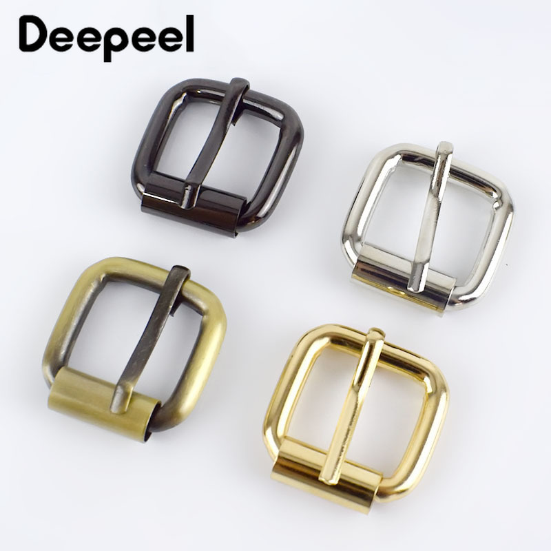 5/10/20pcs 20mm Metal Buckle For Bag Belt Strap Web Adjust Roller Pin Buckle Snap Rectangle Leather Craft Repair DIY Accessories