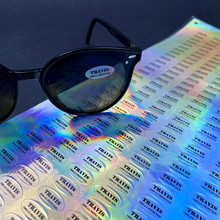 Customized Hologram Sticker For  Sunglasses Lens Oval Shape Stickers Personalized Logo Print For Your Product
