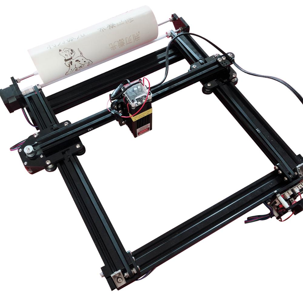 DIY 7000MW Laser Engraving Machine CNC Router Metal Laser Engraver 7W Engravable Cylinder