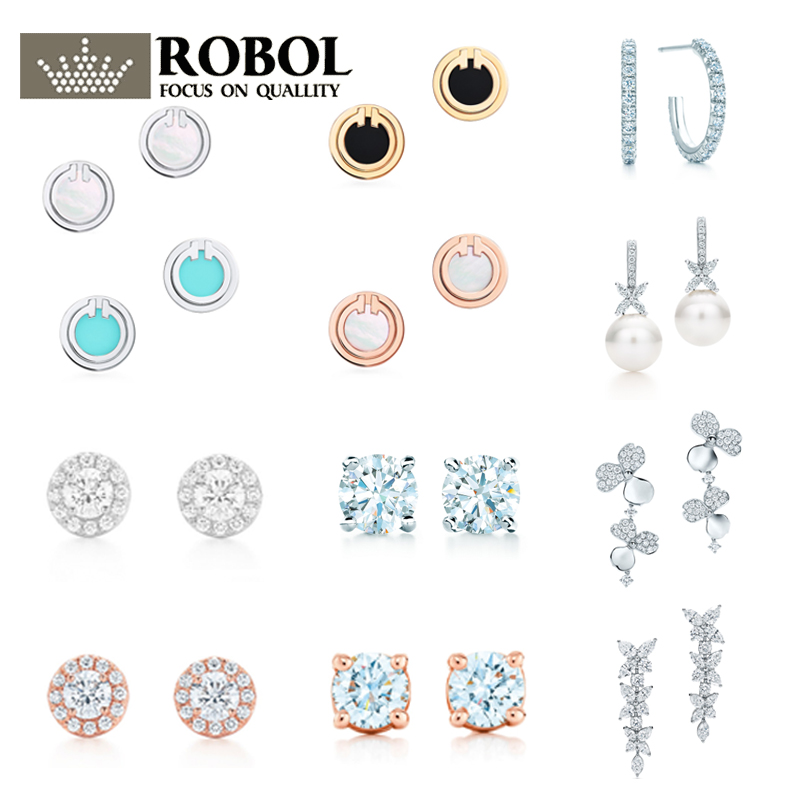 05 High Quality Original 925 Sterling Silver Earrings With Original Engraved Wedding Banquet Party Elegant Jewelry Free Shipp