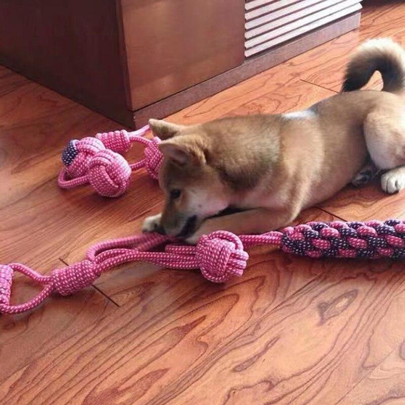 Питомцы игрушечные собаки, устойчивые к укусам, ватный шарик, веревка с узлом, игрушка, интерактивный Щенок, Жевательные Зубы, игрушки для чистки собак и кошек-4