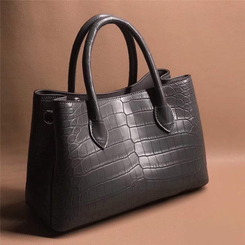 Bag Alligator Hand-Bags Crocodile Leather Famous-Brand Women 100%Real