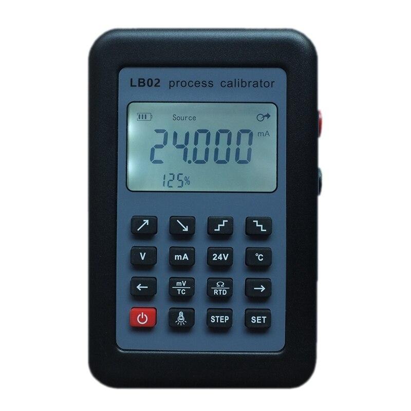 Lb02 compteur de tension de résistance 4-20Ma 0-10 V/Mv Source de générateur de Signal Thermocouple Pt100 testeur de calibrateur de processus de température