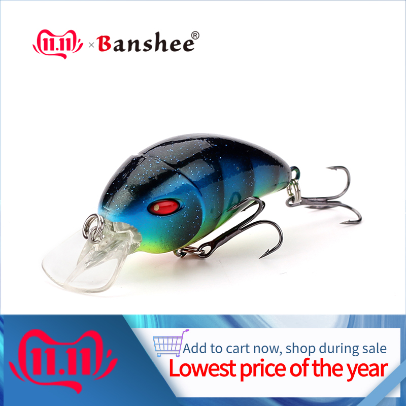 Banshee 47mm 6g Small Crankbait Fishing Lure Pike Wobblers For Trolling Perch Lure Shallow Crank Bait Floating Lure Trout/Bass