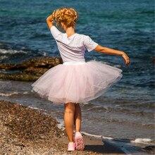 Женские юбки, 7 слоев, миди, фатиновая юбка, модные юбки-пачки, Женская бальная юбка-пачка для вечеринки,, Лолита, Faldas Saia