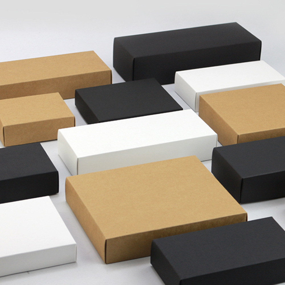 20 pcs Natural Brown Kraft Paper Packaging Box Cajas de Carton Box Soap Packaging Box Wedding Favors Candy Gift Box
