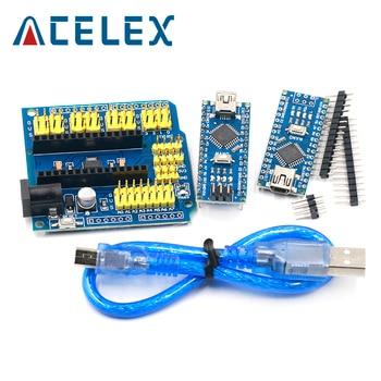 Акция для arduino Nano 3,0 Atmega328, 1 шт., контроллер, совместимая плата WAVGAT, модуль PCB, макетная плата без USB V3.0