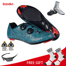 Boodun Outdoor Sports Cycling Shoes Men Road Bike Racing Shoes Breathable Ultralight Athletic Self-Locking Bicycle Shoes Zapatos boodun breathable mountain cycling shoes leisure sports outdoor mtb road bike bicycle lock riding shoes women