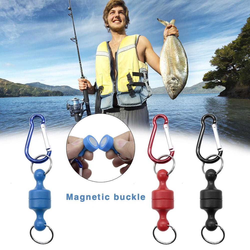 Strong Magnetic Carabiner Multi-function Mountaineering Hanging Buckle Outdoor Fishing Magnet Buckle Release Holder Carabiner