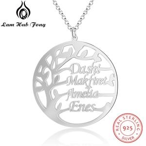 Image 1 - Gepersonaliseerde Stamboom Ketting Voor Mama Custom Naam Charme Ketting Voor Vrouwen 925 Sterling Zilveren Fijne Sieraden (Lam Hub fong)