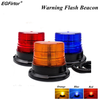 משואת הבזק אזהרה חירום אינדיקציה LED מנורת רכב מסתובב Traffice בטיחות אור מגנט תקרת תיבת פלאש Strobe