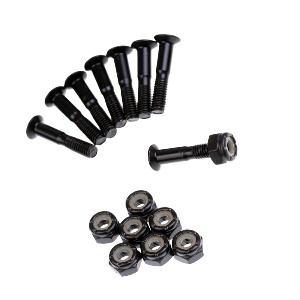 8Pcs Carbon Steel Truck Screw Nut Replacement Skateboard Hardware Screw Set Longboard Screws Nuts