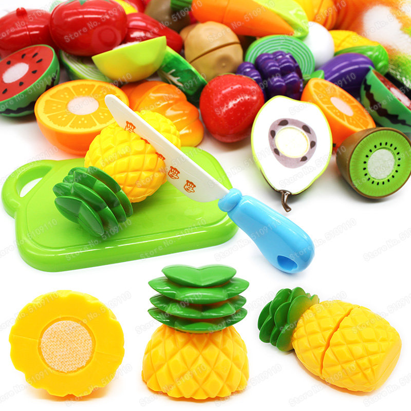 Mini Pineapple Cutting Fruit Vegetable Pretend Play Children Kid Educational Toy Gift Girls Toys Kitchen Set For Kids Mini Food