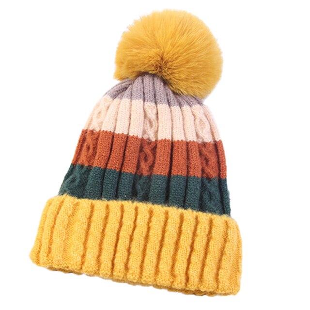 Winter knitted hats for Women Knitted Hats Winter Beanies Hats  Beanies Women Female Caps Womens Winter Women Hat Warm Winter