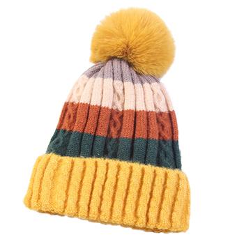 Zimowe Skullies dla kobiet czapki zimowe kapelusz czapki zimowe czapki damskie czapki kobiet czapki damskie zimowe damskie kapelusz ciepły z dzianiny tanie i dobre opinie Akrylowe Dla dorosłych Kobiety Na co dzień H026 Patchwork Skullies czapki Red Yellow Purple Khaki Black etc