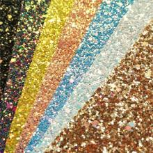 Glitter Vinyl Fabric Hologram Rainbow Leather Vinyl Hair Bow Decoration DIY Handmade Sequin Bows Craft Material
