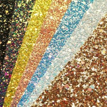 цена Glitter Vinyl Fabric Hologram Rainbow Leather Vinyl Hair Bow Decoration DIY Handmade Sequin Bows Craft Material онлайн в 2017 году