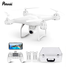 Potensic T25 RC Drones Dual GPS Quadcopter WiFi FPV Brushless Follow Me Helicopters Racing Remote Control Drone Toys with case