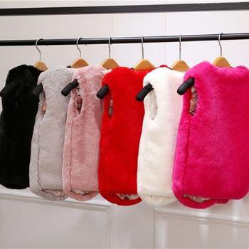 Baby Kids Winter Plus Velvet Thick Vests Coat 0-9 Years Old Faux Fur Imitation Wool Vest Fashion Children