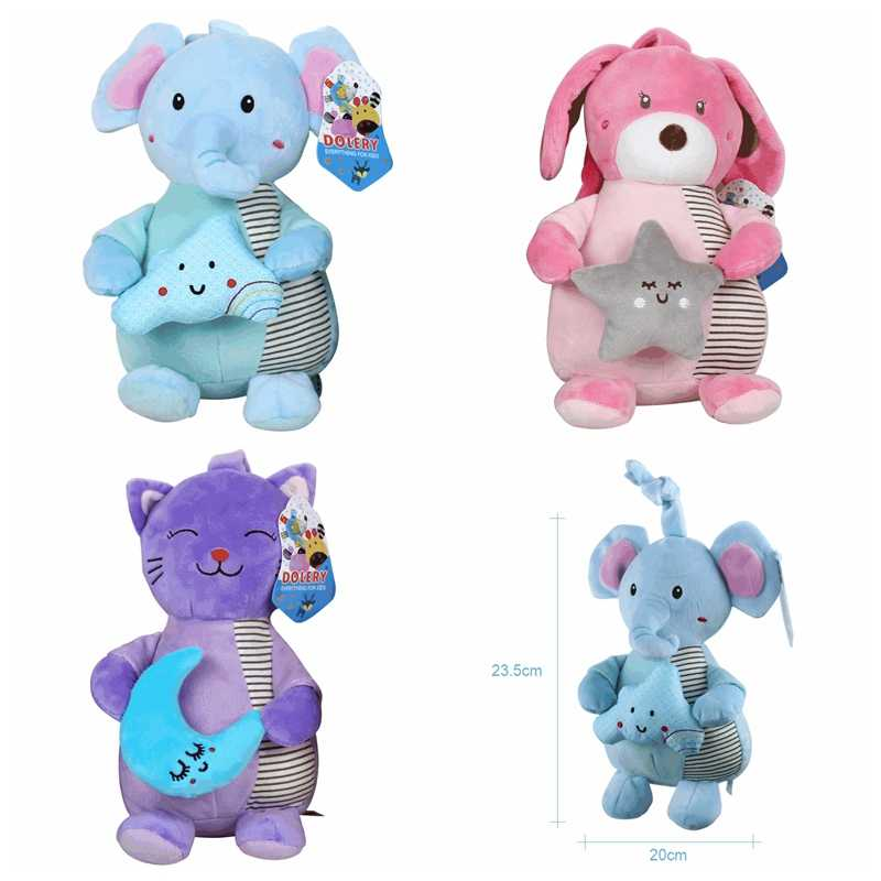 Plush Rattles Baby Toys 0-12 Months Crib Newborn Hanging Bed Stroller Kids Educational Toys For Children Music Soft Animal Gifts