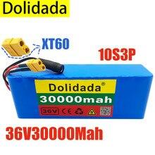 Новый литиевый аккумулятор высокой мощности 10S3P 36 в 30 Ач XT60 500 Вт 42 в 18650 30000 мАч для электрического велосипеда скутера BMS