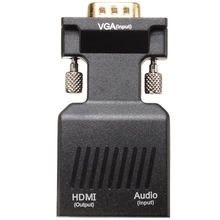 VGA To HDMI Adapter With Audio Support Full HD 1080P For PC Laptop to HDTV Projector VGA to HDMI Audio Video Converter