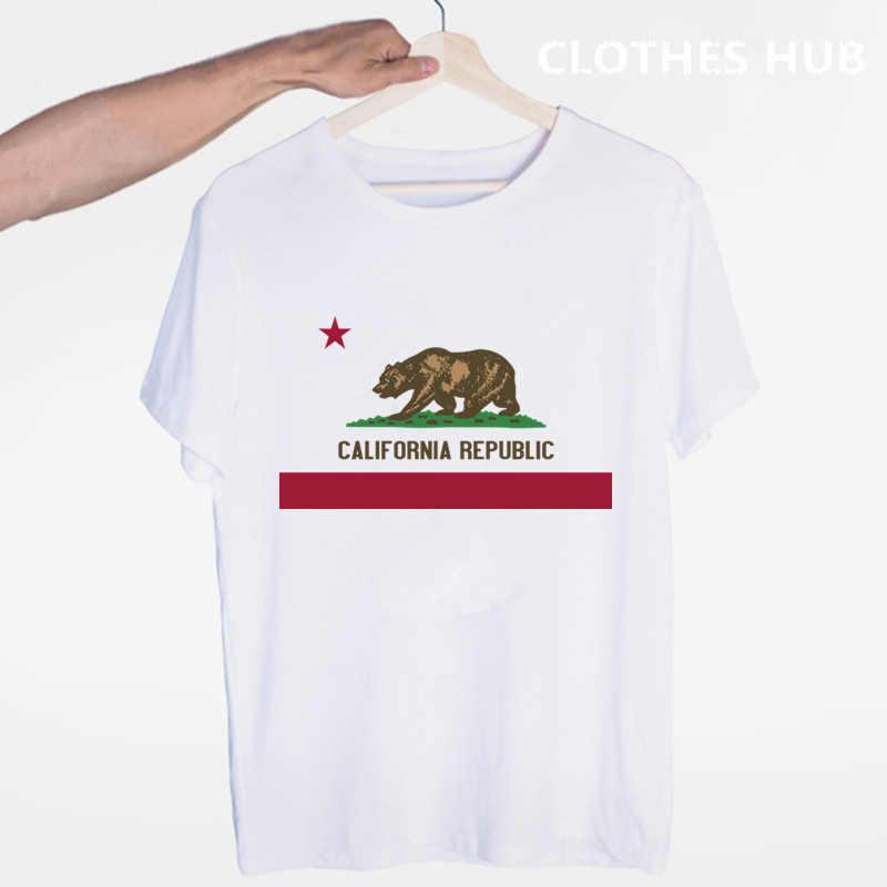 California Republik Vintage California Bär T-shirt Oansatz Kurzen Ärmeln Sommer Lässige Mode Unisex Männer Und Frauen T-shirt