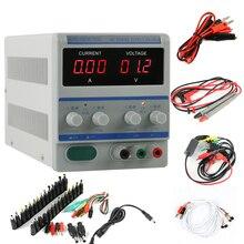PS-305A High Precision Digital Adjustable DC Power Supply 0-30V 0-5V+39pcs/set DC JACK For Lab Notebook Computer Repair